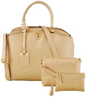 Mark & Keith Gold PU Handheld Bag