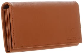 MARKQUES Women Solid Faux Leather - Clutch Tan