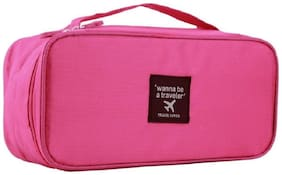 Martand Waterproof Multifunctional Underwear Slide Portable Cosmetic Makeup Lingerie Toiletry Travel Bag with Handle- Color may Vary