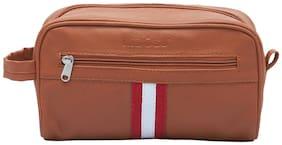 MBOSS 3 Liter Tan Toiletry Bag Pouch Organizer Travel Bag TP 001 TAN STRIPE