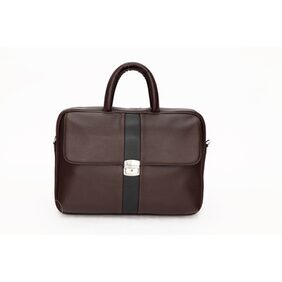 Mboss Brown Leather Laptop Bag