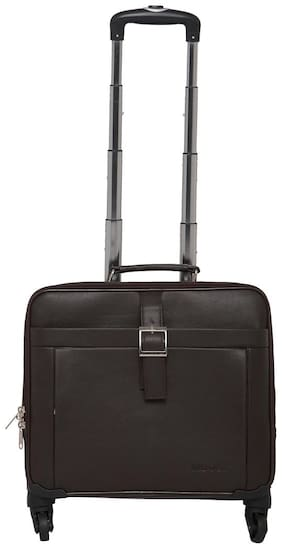 Mboss Cabin Size Soft Luggage Bag - Brown , 4 Wheels