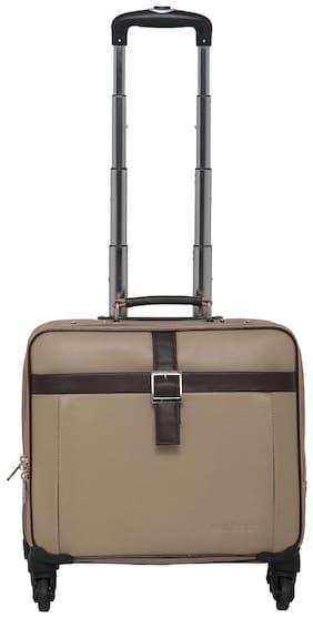 Mboss Cabin Size Soft Luggage Bag - Beige , 4 Wheels