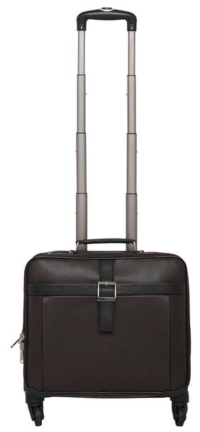 Mboss Overnight Laptop Trolley Bag Ont 052 Brown Black