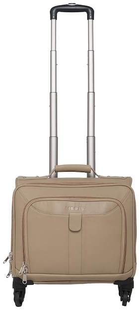Mboss Cabin Size Soft Luggage Bag - White , 4 Wheels