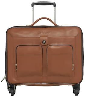 Mboss Medium Size Soft Luggage Bag ( Tan , 4 Wheels )