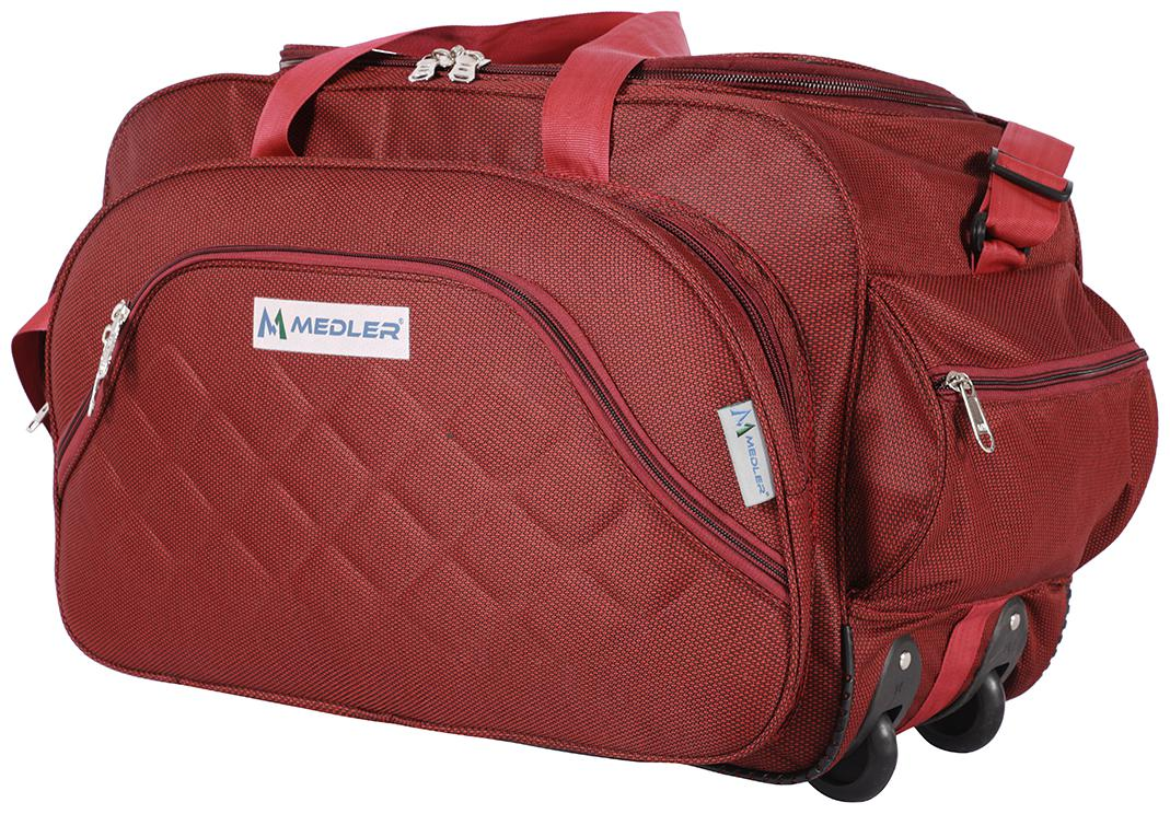 MEDLER  Expandable  DUFFELPRO RED TRAVEL DUFFEL BAG  Red  by Breggabog