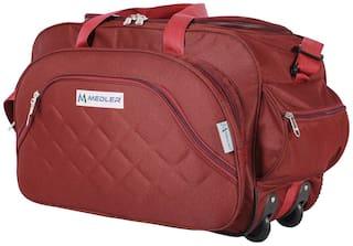 MEDLER (Expandable) DUFFELPRO-RED TRAVEL DUFFEL BAG (Red)