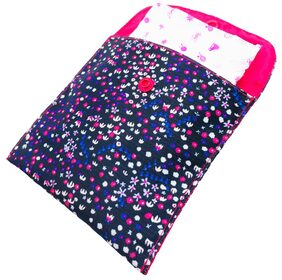 Meher Collection Sanitary Pad Pouch with Single Pocket Confetti Print with Pink Lining and Button