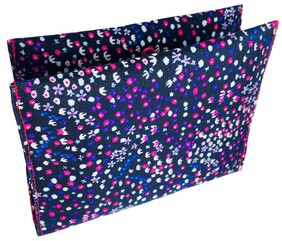 Meher Collection Pink Confetti Print 2 Pockets Sanitary Pad Pouch with Pink Lining