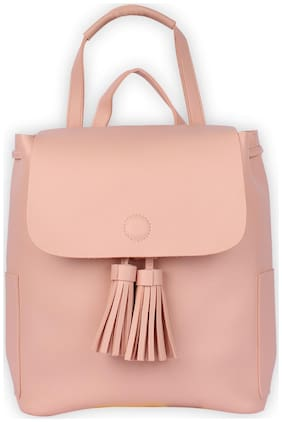 Enso Pink PU Backpack