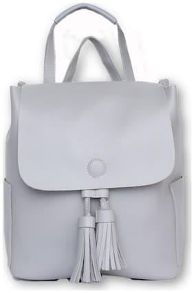 Enso Grey PU Backpack