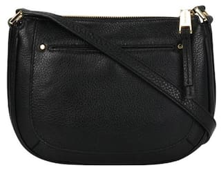 Buy Michael - Michael Kors Women Solid Leather - Sling Bag Black ... 3d3d477bf9fdf