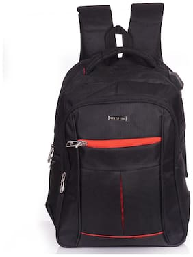 Milestone 35 ltr Black Polyester Laptop backpack
