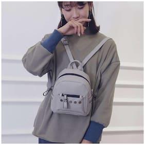 Mini Zipper Backpack #Gray