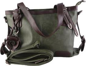 MONARCHY PRIDE Leather Women Handheld bag - Green