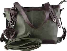 MONARCHY PRIDE Women Leather 1 Handheld Bag - Green