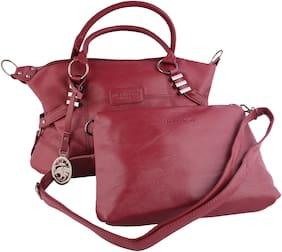MONARCHY PRIDE Leather Women Handheld bag - Maroon