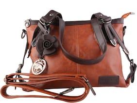 MONARCHY PRIDE Leather Women Handheld bag - Brown