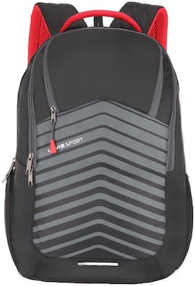 LAVIE SPORT Grey Polyester Laptop Backpack