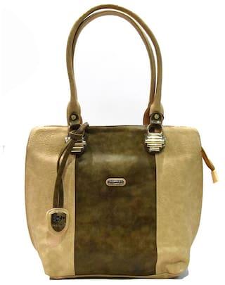 Moochies Beige Leather Handbags