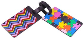 Multi-Color Luggage ID Name Tags Bag Tag for Travelling ID Labels Tag for Baggage - Pack of 2