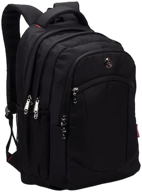 Multipurpose Backpack Bag - Cosmus Madison Black 33L waterproof Bag With laptop compartment