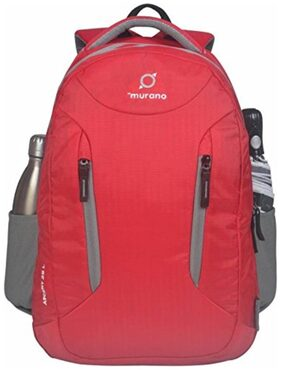 """Murano Ascent Laptop Backpack For 15.6"""" Laptop  And 29 Ltr Professional Backpack  (Red)"""