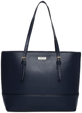 Truffle Collection Faux Leather Women Handheld Bag - Blue