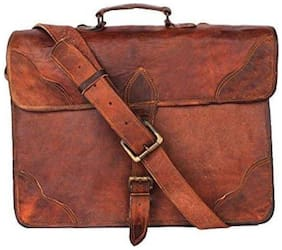 NeoFeral Brown Leather Laptop Backpack