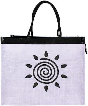 Neska Moda Unisex Solid Jute - Tote Bag Purple