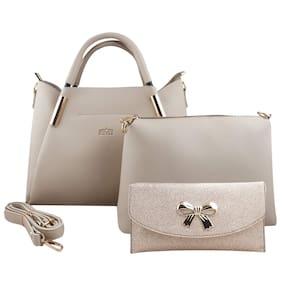 Nevis Cream PU Handheld Bag