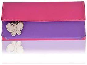 Butterflies Pink And Purple Wallet (5 Piece)
