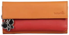 Butterflies Orange And Red Wallet (5 Piece)