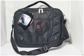 Nice NEW SWISSGEAR TSA Black Laptop Messenger Bag SA1931 - Fits most 15 Laptops