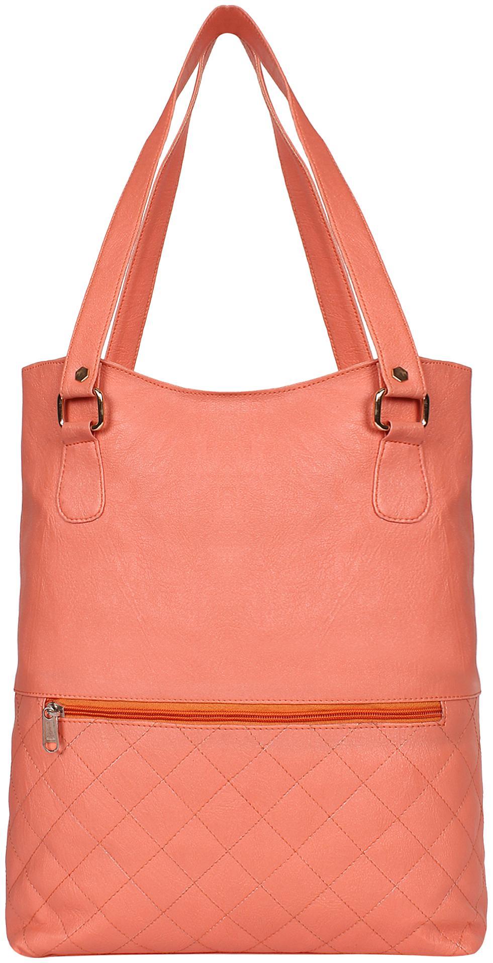 NIFTY FASHION   ACCESSORIES Orange Faux Leather   PU Shoulder Bag