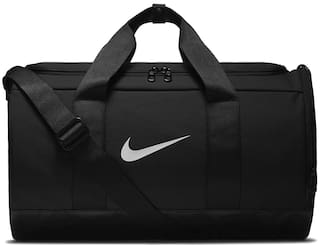 991e10532747f Buy Nike Polyester Men Duffle Bag - Black Online at Low Prices in ...