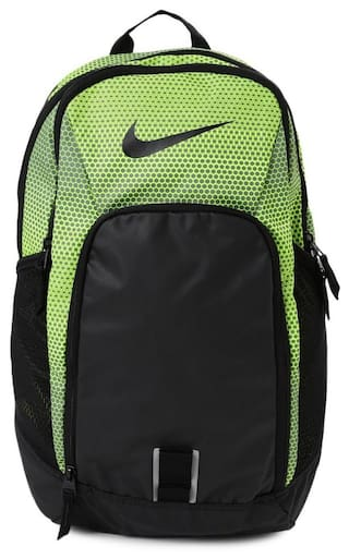 580dc0e6a44e Buy Nike Unisex Black And Neon Green Printed Alph Adpt Backpack ...