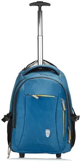 Novex Backpack Trolley Small Size Overnighters Bag ( Blue , 2 Wheels )