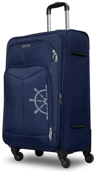 Novex SOFT LUGGAGE Cabin Size Soft Luggage Bag ( Blue , 4 Wheels )
