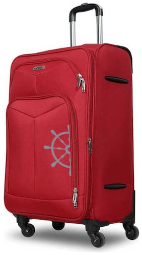 Novex Canyon Cabin Size Soft Luggage Bag ( Red , 4 Wheels )