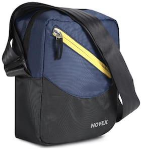 Novex Blue Nylon Messenger bag