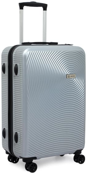 Novex Cabin Size Hard Luggage Bag ( Silver , 4 Wheels )