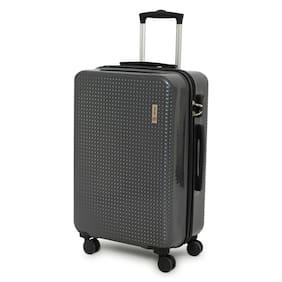 Novex Rome Large Size Hard Luggage Bag ( Grey , 4 Wheels )