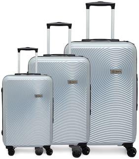 Novex Cabin & Medium Size Luggage Set ( Silver , 4 Wheels )