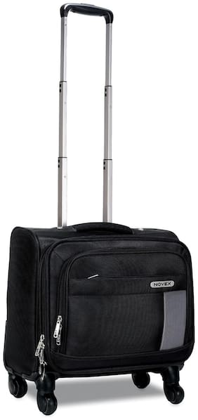 Novex Overnighter Trolley Small Size Overnighters Bag ( Black , 4 Wheels )