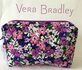 NWT Vera Bradley Large Cosmetic Case Bag In  Flower Garden