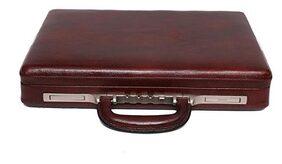 OBANI Genuine Leather Briefcase Brown