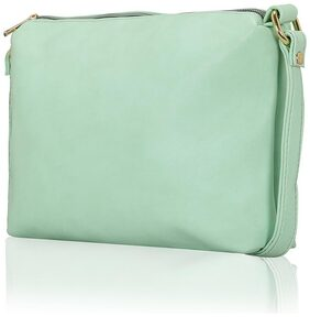 Lost & Found Women Solid Faux Leather - Sling Bag Blue