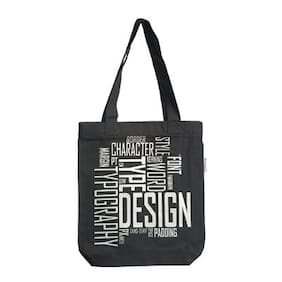 Orange Bunch Canvas Women Handheld Bag - Black